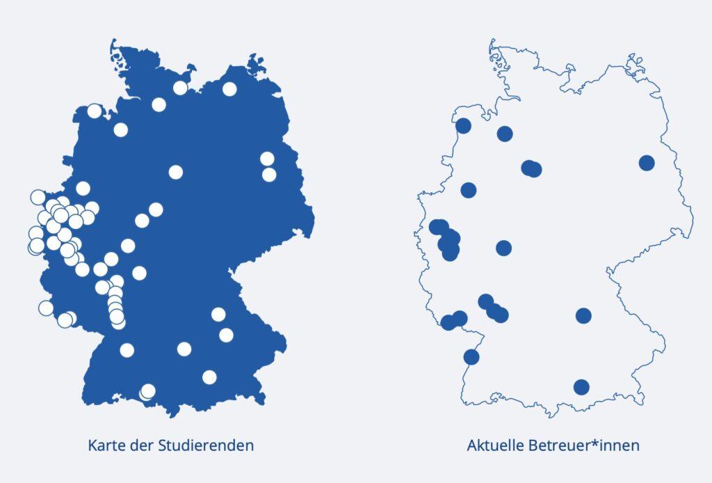 Karte der Studierenden und Betreuer*innen des Studiengangs Master Rechtspsychologie.